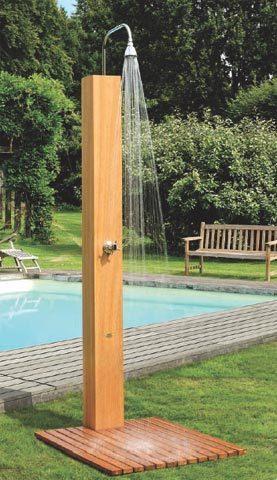 Ducha de dise o solar eclipse todo en energ a solar - Duchas para piscina ...