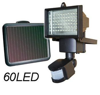 Foco solar led para exteriores con sensor todo en solar - Focos led solares ...