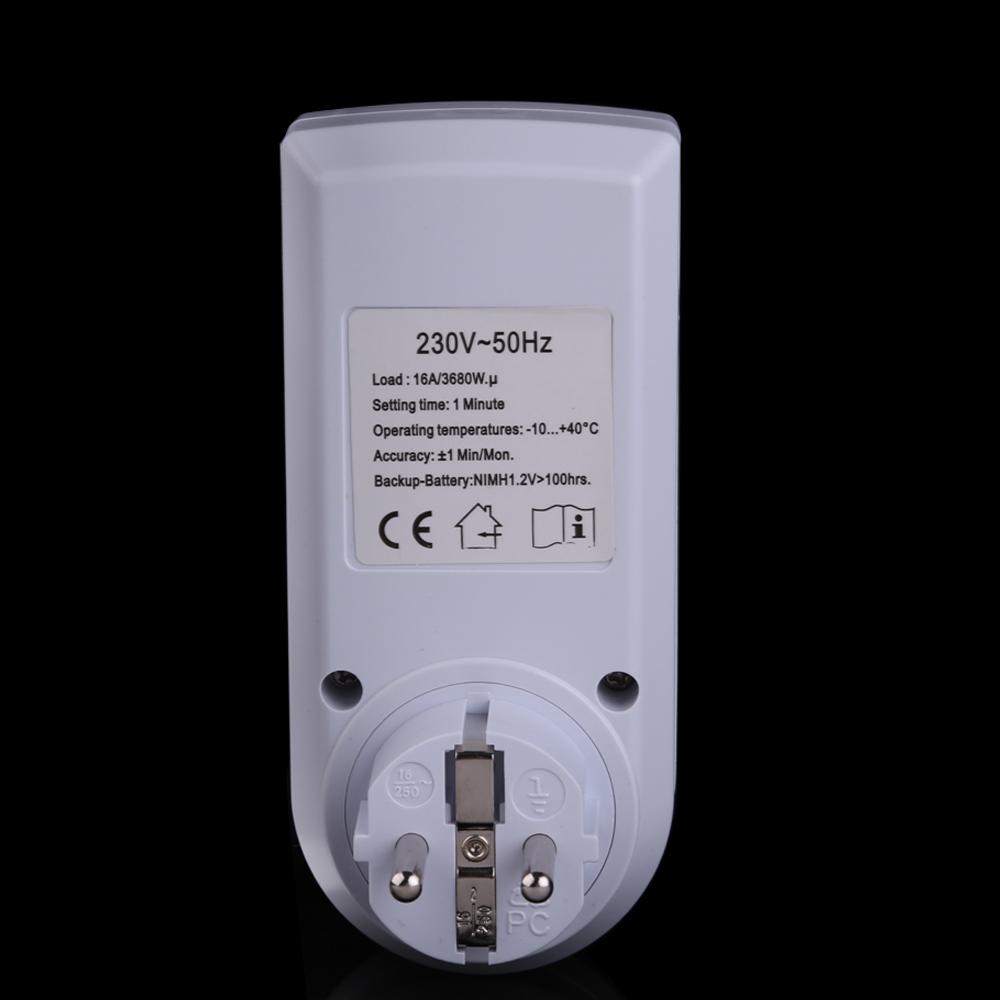 Programador digital de enchufe enchufe con temporizador - Temporizadores de luz ...
