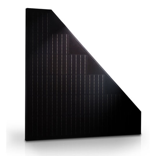 Triangular solar panel for triangular roofs