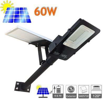 Solar Lamp With 60w Panel Lithium Ion