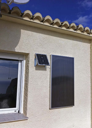 Solar hot air heating up to 20m2