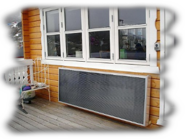 Equipment solar heating