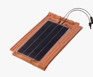 8W flat photovoltaic solar tile for your roof