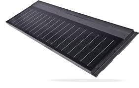 Photovoltaic solar roof tile for black flat roofs