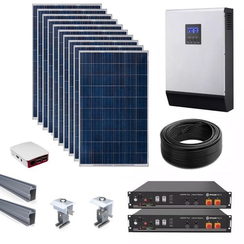 Off-grid solar kit with lithium battery 3000W 6600Whdia